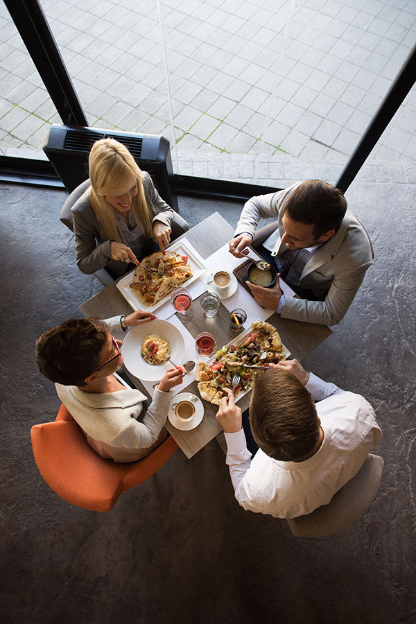 2 Couples Enjobying Meals with BiteFlip